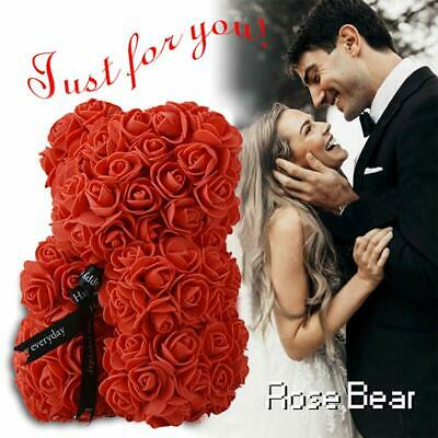 Teddy Bear Roses Cute Flower Bear with Gift Box Decor Free Shipping Girlfriend