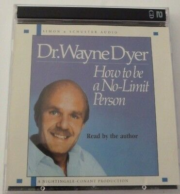 Dr. Wayne Dyer Audiobook CD 1994 How to be a No-Limit Person 2 CD Set