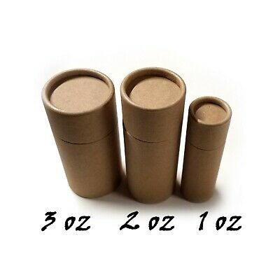 Empty Cardboard Deodorant Containers - Naturally BPA Free, Biodegradable - 2.2oz