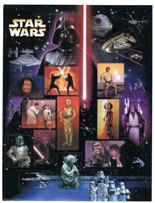 2007 STAR WARS Mint MNH Sheet 15 41¢ STAMPS 4143 Darth Vader Yoda Luke Skywalker