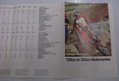 AMF HARLEY DAVIDSON Motorcycle Original Sales Brochure 125cc to 350cc