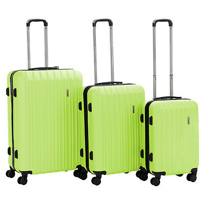 "3PCS Luggage Set Travel Bag Trolley Spinner Carry On Suitcase 20"" 24"" 28"" Green"