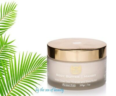 Dead Sea Kedma Mango Body Butter With Dead Sea Minerals & Shea Butter 200gr