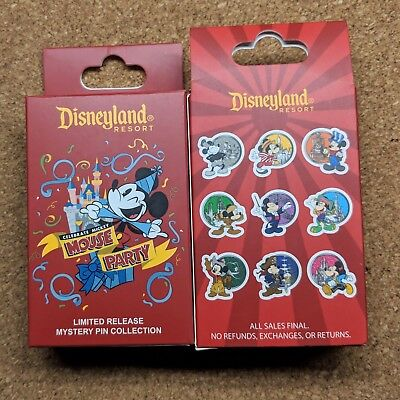 Celebrate Mickey Mouse Party Pin 2019 Disney Disneyland Mystery Collection LR