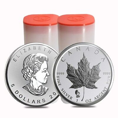 Lot of 50 - 2019 1 oz Silver Maple Leaf Phonograph Privy Reverse Proof Coin BU