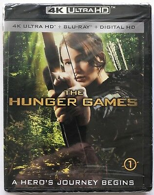 The Hunger Games (4K Ultra HD + Blu-ray + Digital HD) Factory Sealed, Brand New!