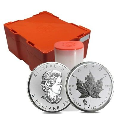 Monster Box of 500 - 2019 1 oz Silver Maple Leaf Phonograph Privy Reverse Proof