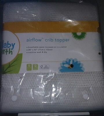 Lullaby Earth Flat Airflow Crib Topper