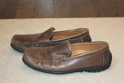 41efcfb42884 ECCO MEN S 44 10-10.5 Brown Nubuck Leather Driving Loafer Moccasin ...