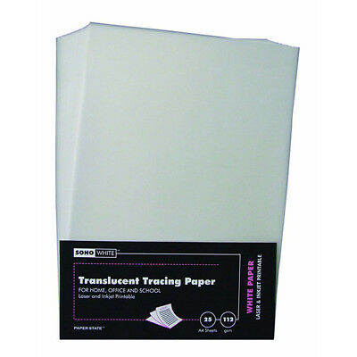 Soho - Translucent Tracing Paper A4, 112gsm, 25 Sheets