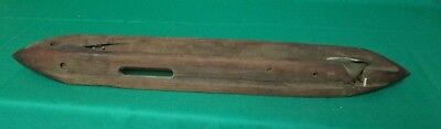 Vintage Wooden Shuttle For Weaving Loom --Metal Tips--18""