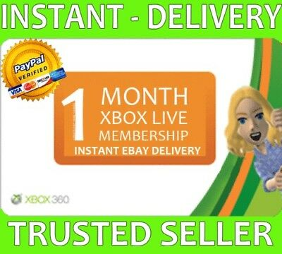 Xbox Live 1 Month Gold Trial Membership  - Instant Delivery!