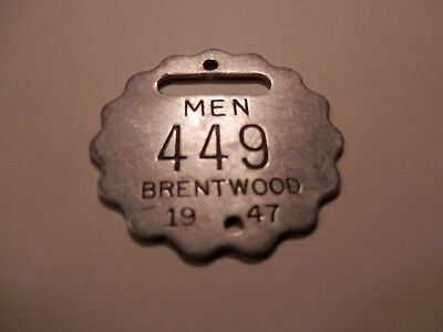 locker room tag brentwood golf club course pittsburgh pa 1947