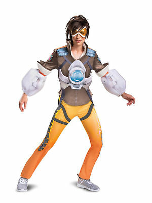 OVERWATCH TRACER COSPLAY Costume Lena Oxton Brown Coat Just