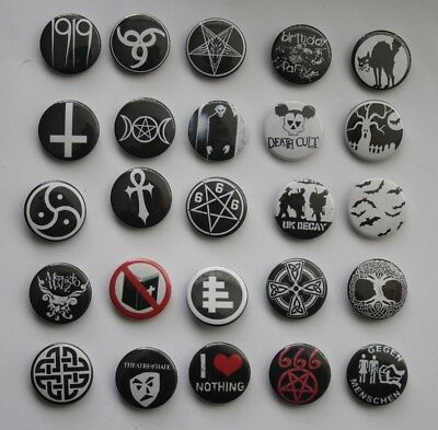 Button Versch. Motive - Gothic Deathrock Batcave Darkwave Gothpunk Postpunk