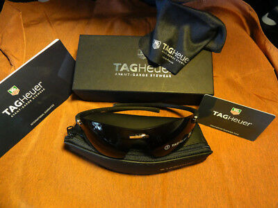 38102b4195 Tag Heuer TH 5101 Palladium Black 201 s Rimless Curved Sunglasses. Sexy.  France.