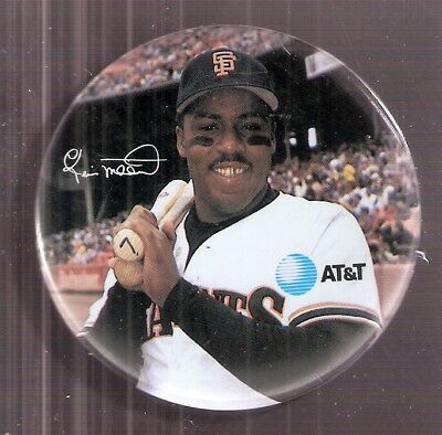 "Kevin Mitchell San Francisco Giants 1990 AT&T 3"" Pin-Back Button - 1989 NL MVP"
