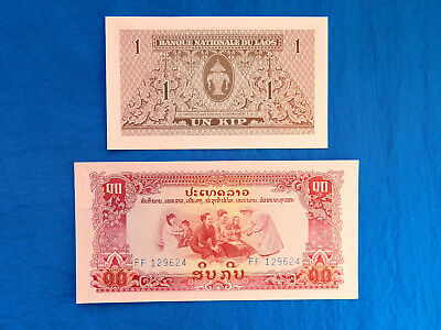 1 Kip Year ND 1962 Uncirculated Banknote Asia Laos P-8 One