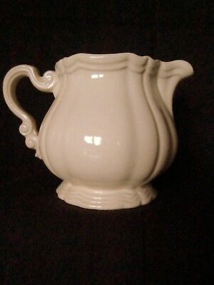 POT CREME LAIT Cremier Faience Earthenware SARREGUEMINES Service ChocoIat ivoire
