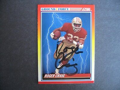 13cd87f64 Roger Craig - San Francisco 49ers - Autographed football card - FREE  SHIPPING