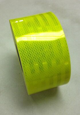 "6"" Reflective Truck Trailer Conspicuity Safety Tape 3M Fluorescent Yellow Green"