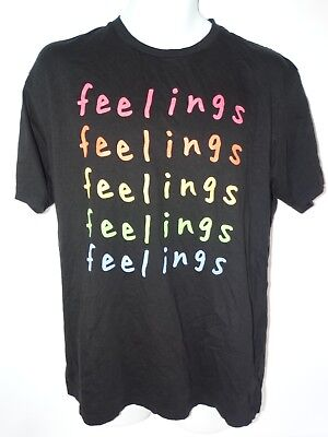 Feelings T-Shirt  Men's Black Sizes Large --New-- Low Price Look