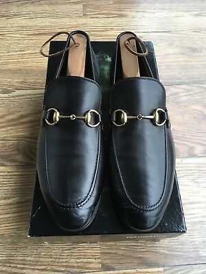 9d0c26d3567 Gucci  Jordaan  Horse Bit Loafer Men s Black Leather GUCCI Size 7.5 US Size  8.5