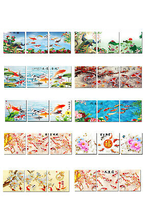 Wall Art Home Decor Animals Feng Shui Fish Koi oil painting HD Printed on canvas