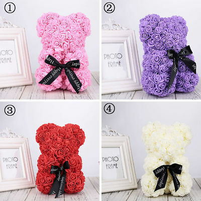 2019 Valentine Soft Rose Flower Teddy Bear Perfect For Valentine's Day