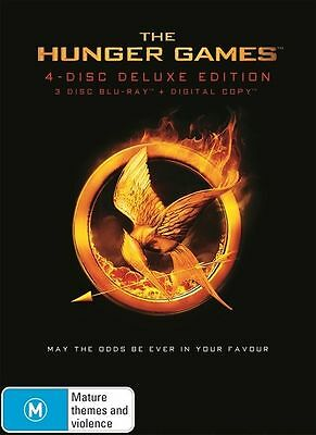 The Hunger Games - Deluxe Edition (Blu-ray, 2012, 4-Disc Set) Like New!