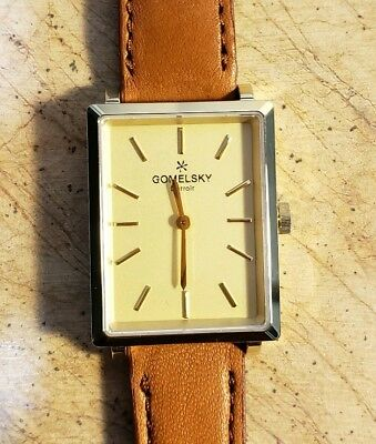 b1d8a16c3 Shinola Gomelsky Shirley Fromer Watch With 32x25 mm Golden Face & Leather  Band