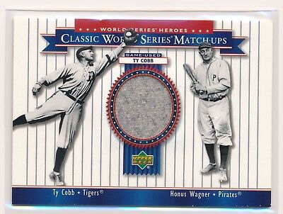 TY COBB 2002 Upper Deck World Series Heroes PANTS RELIC W/ Honus Wagner TIGERS
