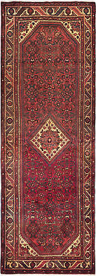 """Hand-knotted Persian Carpet 3'9"""" x 11'0"""" Bordered, Persian, Traditional Wool Rug"""