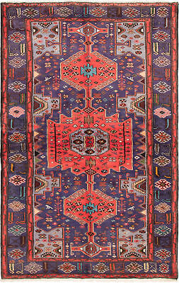 """Hand-knotted Persian Carpet 4'0"""" x 6'8"""" Koliai Traditional Wool Rug"""