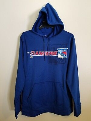 NWT New York Rangers Majestic Let Loose Dri-Fit Hooded Men s Sweatshirts 019e502e1