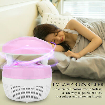 Safe Electronic USB UV Light Indoor Mosquito Kill Buzz Fly Insect Bug Trap Pink