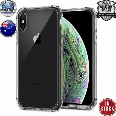 17INDIGO for Phone X XS Max XR 8 Plus Hybrid Case Crystal Clear Shockproof Cover