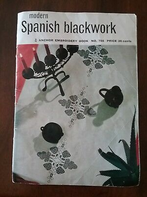 Anchor Embroidery Modern Spanish Blackwork Book 755