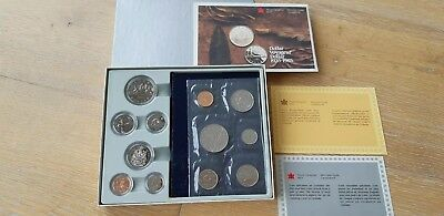 Royal Canadian Mint 1935-1985 Dollar Voyageur uncirculated and proof set