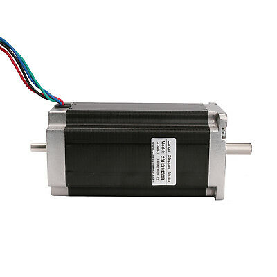 Nema23 stepper motor 425oz.in 23HS9430B,4leads,3A,dual shaft,112mm CNC LONGS