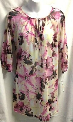 76b591a13f NWT $50 Sz. S JANTZEN Women's Floral Print Beach Cover Up/Tunic/Peasant