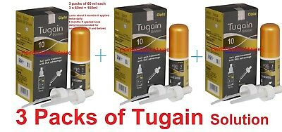3x Cipla Tugain 10% Minox solution extra strength for Hair regrowth like rogaine
