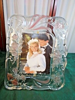 Exquisite Decorative Glass Wedding Picture Frame