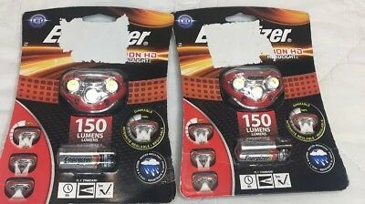 Energizer Vision HD LED 150 Lumens Headlight headlamps with Batteries New 2pks