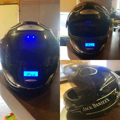 jack daniels ipod dock in the shape of a racing helmet