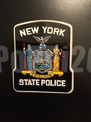 NYSP NY State Police Outside Decal Sticker *Authentic 1+1 Blue Lives Matter