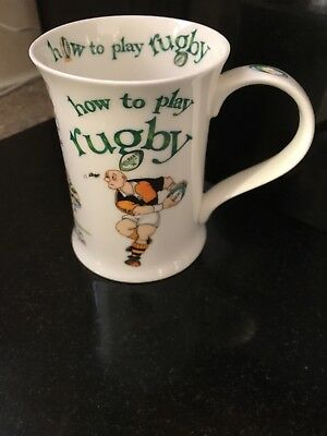 Dunoon Rugby Mug, Cherry Denman, Bone China, How To Play Rugby.