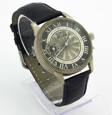 Omega mechanical marriage wristwatch. Swiss made movement. Black dial