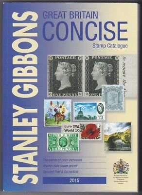 Stanley Gibbons SG GB Concise catalogue 2015 colour illustrated