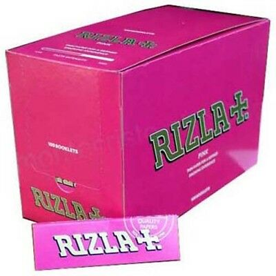Rizla Pink Smoking Rolling Papers Full Box 100 Booklets Regular Size Original